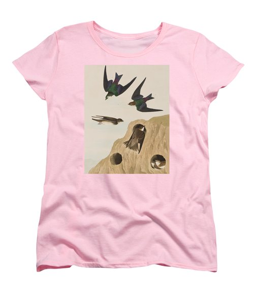 Bank Swallows Women's T-Shirt (Standard Cut) by John James Audubon