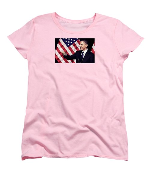 Barack Obama Women's T-Shirt (Standard Cut) by Iguanna Espinosa