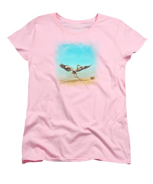 Beach Dancing Women's T-Shirt (Standard Cut) by Jai Johnson