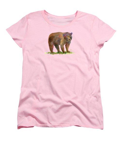 Bear Women's T-Shirt (Standard Cut) by Amy Kirkpatrick