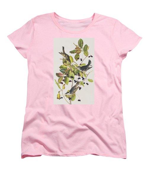 Black Poll Warbler Women's T-Shirt (Standard Cut) by John James Audubon