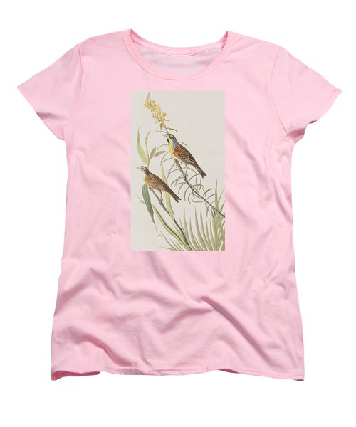 Black-throated Bunting Women's T-Shirt (Standard Cut) by John James Audubon