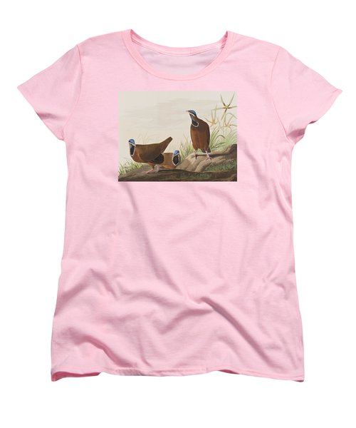 Blue Headed Pigeon Women's T-Shirt (Standard Cut) by John James Audubon