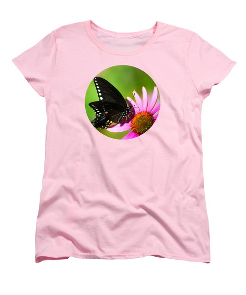 Butterfly In The Sun Women's T-Shirt (Standard Cut) by Christina Rollo