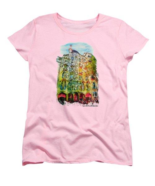 Casa Batllo Barcelona Women's T-Shirt (Standard Cut) by Marian Voicu