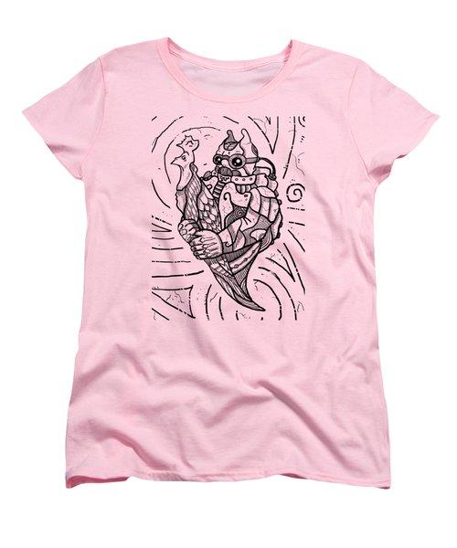 Chicken Master Women's T-Shirt (Standard Cut) by Sotuland Art