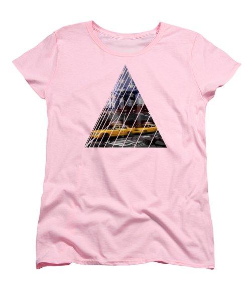 City-art Nyc Composing Women's T-Shirt (Standard Cut) by Melanie Viola