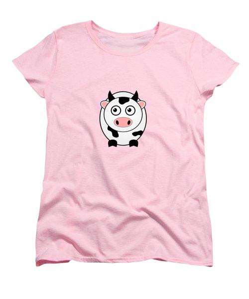 Cow - Animals - Art For Kids Women's T-Shirt (Standard Cut) by Anastasiya Malakhova