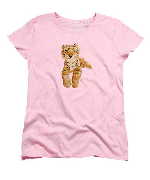 Cuddly Tiger Women's T-Shirt (Standard Cut) by Angeles M Pomata