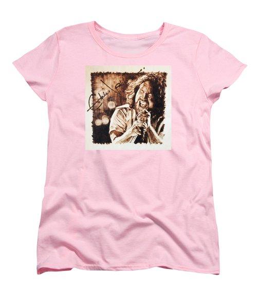Eddie Vedder Women's T-Shirt (Standard Cut) by Lance Gebhardt