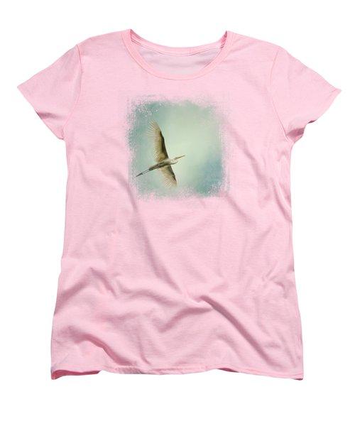 Egret Overhead Women's T-Shirt (Standard Cut) by Jai Johnson