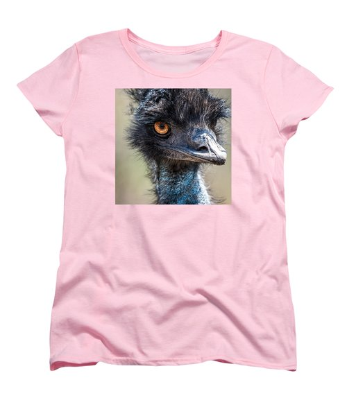 Emu Eyes Women's T-Shirt (Standard Cut) by Paul Freidlund