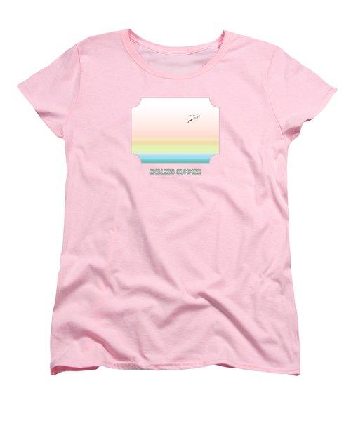 Endless Summer - Pink Women's T-Shirt (Standard Cut) by Gill Billington