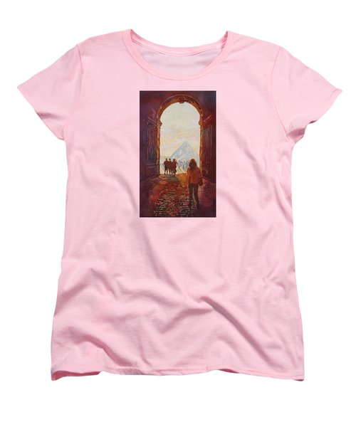 Evening At The Louvre Women's T-Shirt (Standard Cut) by Jenny Armitage