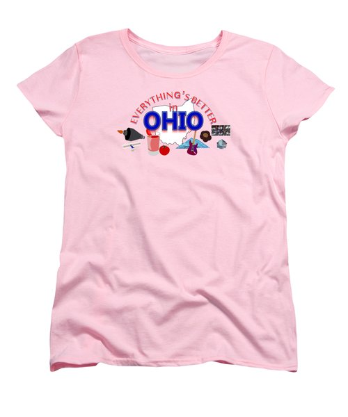 Everything's Better In Ohio Women's T-Shirt (Standard Cut) by Pharris Art