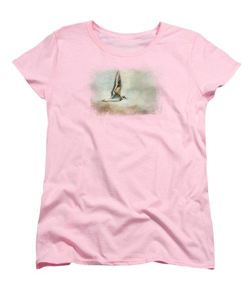 Flight Of The Killdeer Women's T-Shirt (Standard Cut) by Jai Johnson