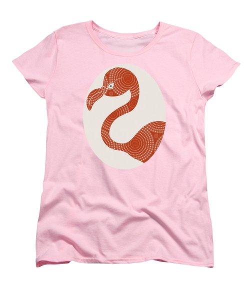 Floral Flamingo Women's T-Shirt (Standard Cut) by Frank Tschakert
