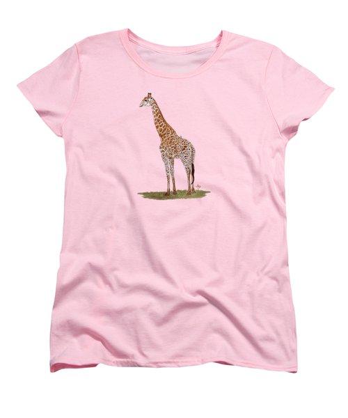 Giraffe Women's T-Shirt (Standard Cut) by Angeles M Pomata