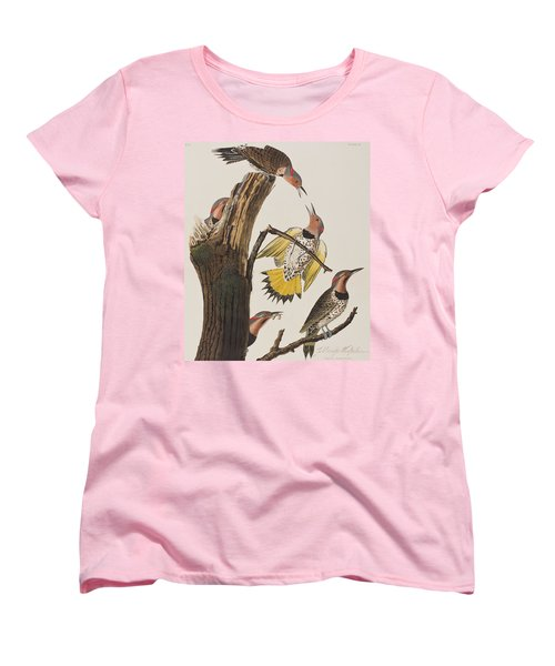Golden-winged Woodpecker Women's T-Shirt (Standard Cut) by John James Audubon