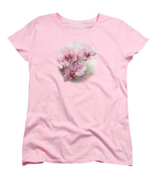 Graceful Orchids Women's T-Shirt (Standard Cut) by Lucie Bilodeau