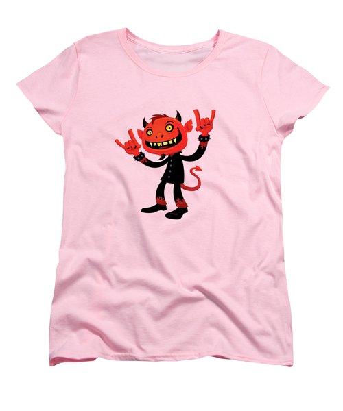Heavy Metal Devil Women's T-Shirt (Standard Cut) by John Schwegel