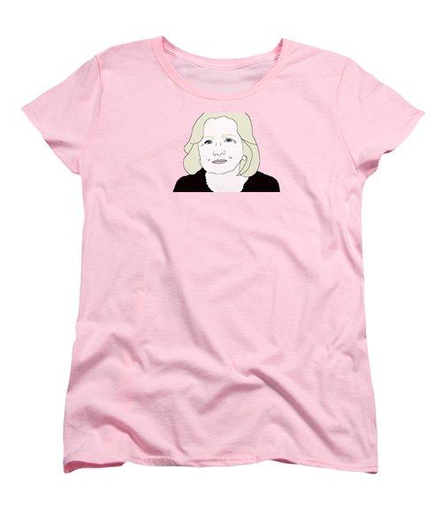 Hillary Clinton Women's T-Shirt (Standard Cut) by Priscilla Wolfe