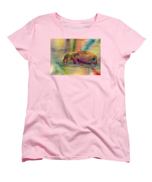 Hippy Dippy Women's T-Shirt (Standard Cut) by Amy Kirkpatrick