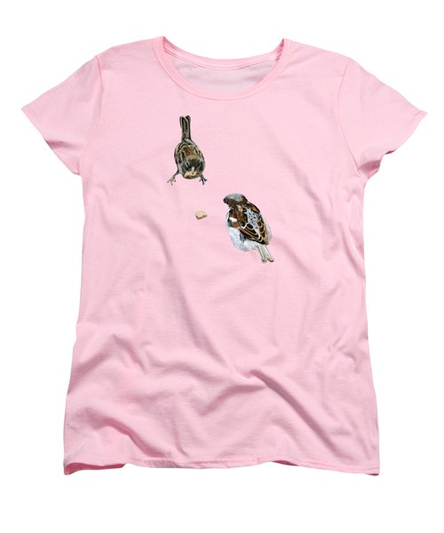 Hungry Sparrows Women's T-Shirt (Standard Cut) by Birgit Jentsch
