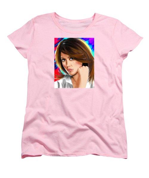 Jessica Alba Women's T-Shirt (Standard Cut) by Isaac Martinez