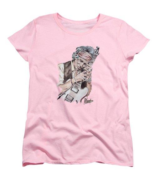 Keith Richards Women's T-Shirt (Standard Cut) by Melanie D