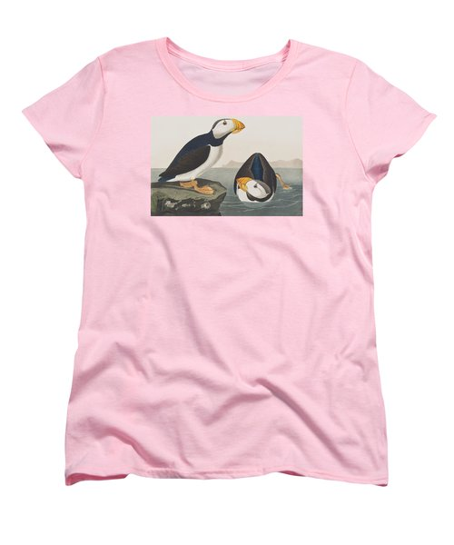 Large Billed Puffin Women's T-Shirt (Standard Cut) by John James Audubon