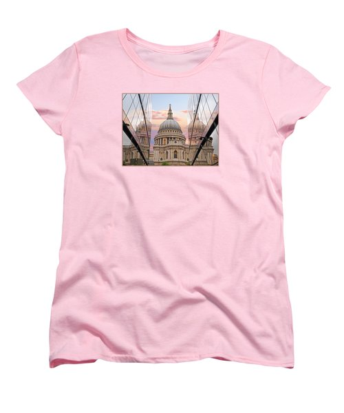 London Awakes - St. Pauls Cathedral Women's T-Shirt (Standard Cut) by Gill Billington