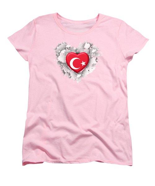 Love Turkey Women's T-Shirt (Standard Cut) by Alberto RuiZ