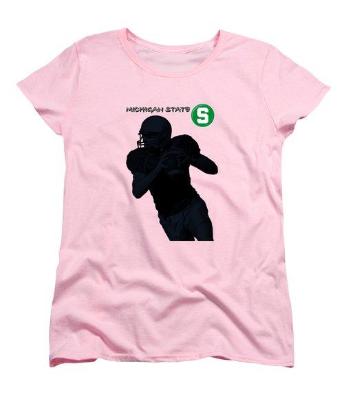 Michigan State Football Women's T-Shirt (Standard Cut) by David Dehner