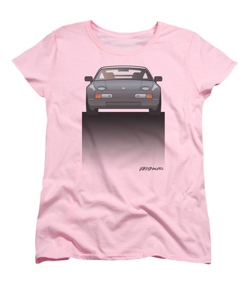 Modern Euro Icons Series Porsche 928 Gts Split Women's T-Shirt (Standard Cut) by Monkey Crisis On Mars