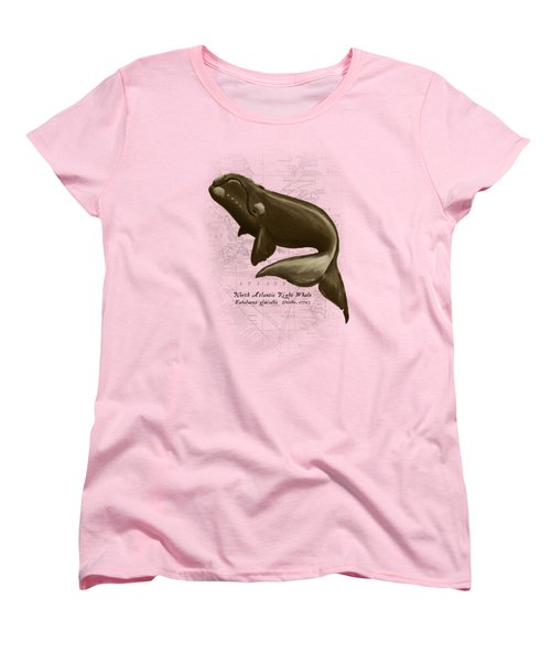 North Atlantic Right Whale Women's T-Shirt (Standard Cut) by Amber Marine