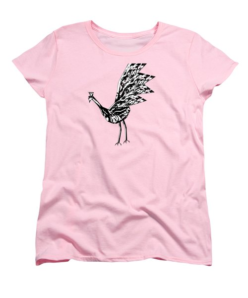 Peacock Dance B Women's T-Shirt (Standard Cut) by Thecla Correya