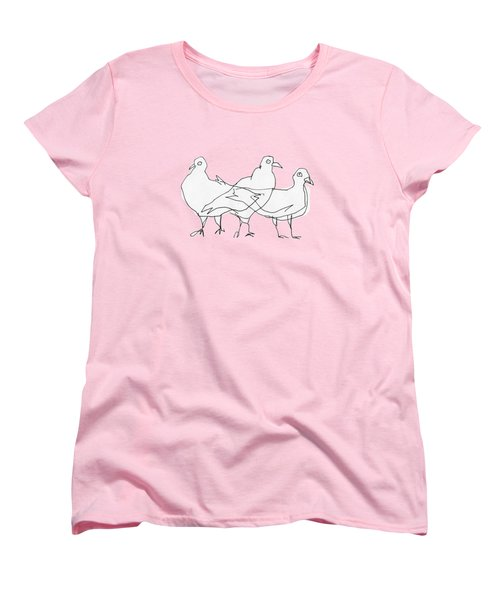 Pigeons Women's T-Shirt (Standard Cut) by Matt Mawson