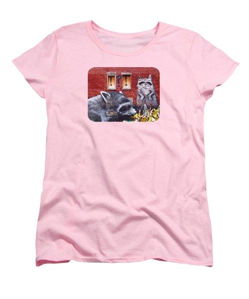 Raccoons Women's T-Shirt (Standard Cut) by Ethna Gillespie