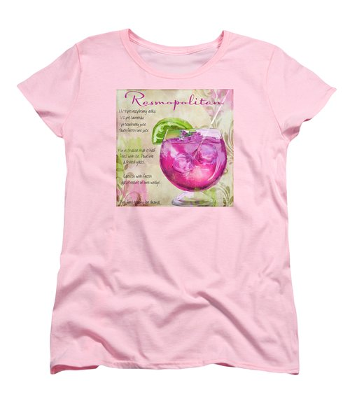 Rasmopolitan Mixed Cocktail Recipe Sign Women's T-Shirt (Standard Cut) by Mindy Sommers