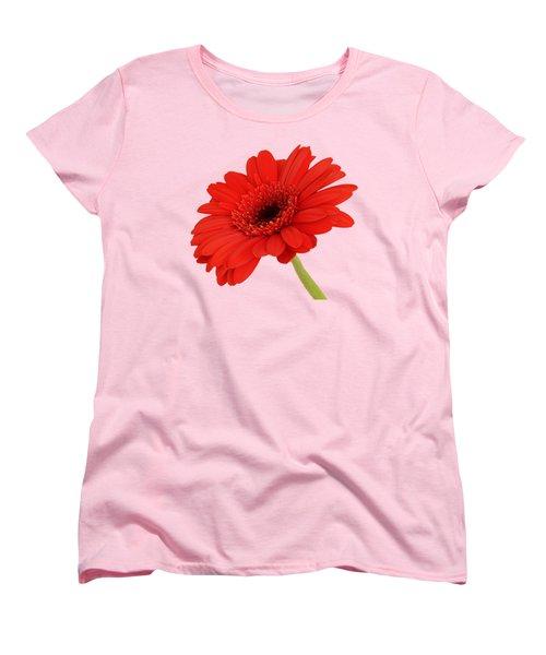 Red Gerbera Daisy 2 Women's T-Shirt (Standard Cut) by Scott Carruthers
