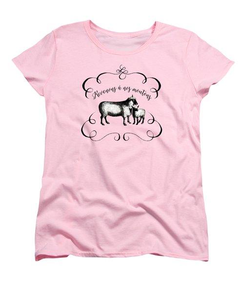Revenons A Nos Moutons Women's T-Shirt (Standard Cut) by Antique Images