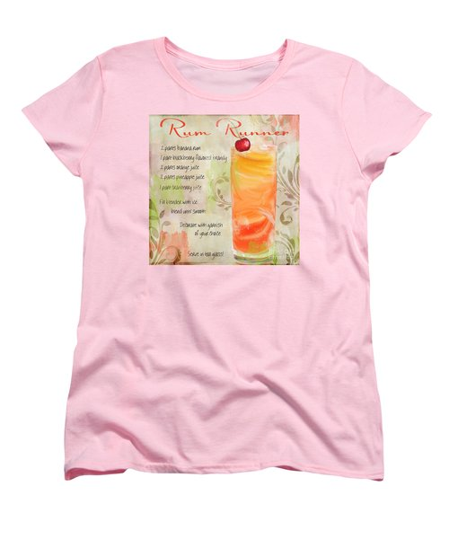 Rum Runner Mixed Cocktail Recipe Sign Women's T-Shirt (Standard Cut) by Mindy Sommers
