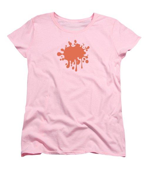 Salmon Color Accent Decor Women's T-Shirt (Standard Cut) by Garaga Designs