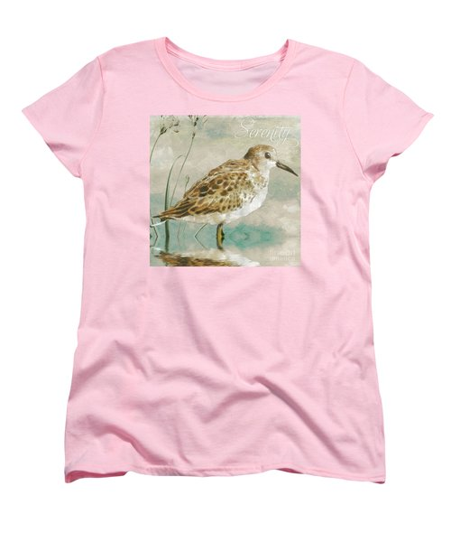 Sandpiper I Women's T-Shirt (Standard Cut) by Mindy Sommers
