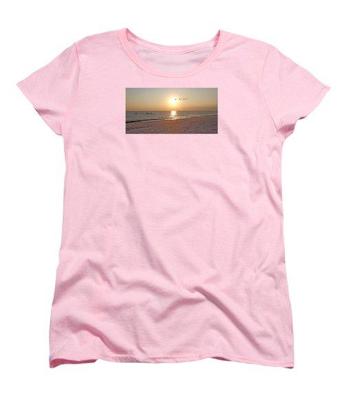 Shackleford Banks Sunset Women's T-Shirt (Standard Cut) by Betsy Knapp