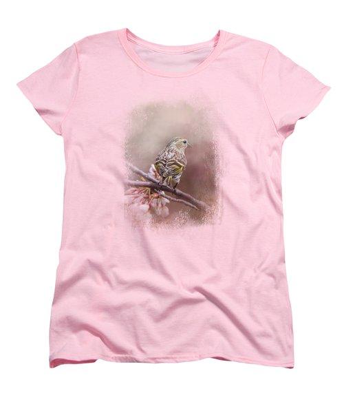 Siskin In The Garden Women's T-Shirt (Standard Cut) by Jai Johnson