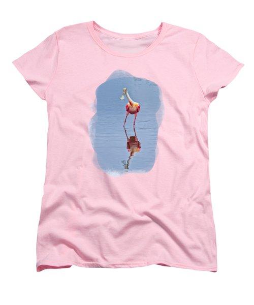 Spoonbill 1 Women's T-Shirt (Standard Cut) by John M Bailey