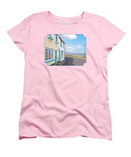 Sunny Outlook - Southwold Seafront Women's T-Shirt (Standard Cut) by Gill Billington