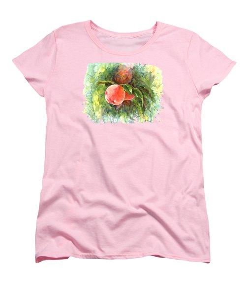 Sunny Peaches Women's T-Shirt (Standard Cut) by Irina Viatkina